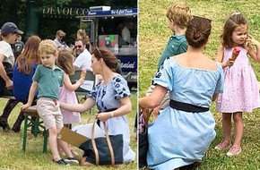 Công nương Kate tiếp tục ghi điểm khi xuất hiện cùng 2 con sau đám cưới hoàng gia