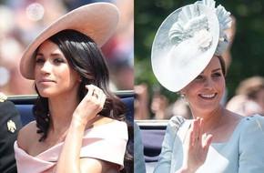 Luôn bị soi có phong cách tương đồng với Kate nhưng cách chọn mũ đội đầu của Meghan lại khác hoàn toàn
