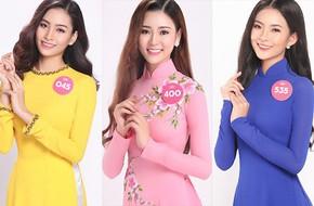 Nhan sắc xinh đẹp của Top 30 vòng Chung khảo phía Nam HHVN 2018 duyên dáng với áo dài