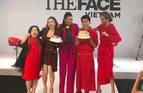 Võ Hoàng Yến - Minh Hằng - Thanh Hằng choàng vai bá cổ hát mừng sinh nhật Nam Trung