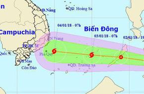 Nam bộ có khả năng đón cơn bão mạnh cấp 8 đầu tiên trong năm mới