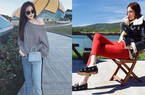 Kỳ Duyên trở thành tâm điểm của street style tuần này, khi diện bộ nào cũng đẹp và chất bộ ấy