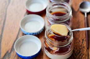 Mềm mịn hấp dẫn món pudding đậu nành
