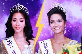 """Hành động """"lạ"""" của Hoàng Thùy sau khi H'Hen Niê đăng quang ngôi vị Hoa hậu Hoàn vũ Việt Nam 2017"""
