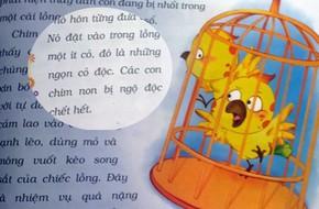 Phụ huynh 'choáng' trước hình ảnh để tự do chim khổng tước đầu độc con trong truyện ngụ ngôn trẻ em