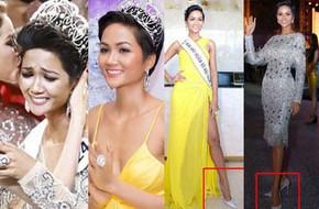 Kể từ khi đăng quang, từ Hoa hậu H'Hen Niê cho đến 2 Á hậu Hoàn vũ cứ mải miết dùng lại 'đồ cũ'