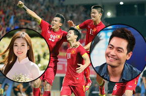 Hoa hậu Mỹ Linh, Á hậu Huyền My, MC Phan Anh và hàng loạt sao Việt phấn khích với chiến thắng lịch sử của U23 Việt Nam