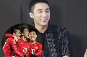 Bận đi diễn không được xem bóng đá, nhưng Sơn Tùng M-TP vẫn làm một điều vô cùng tuyệt vời khi U23 chiến thắng