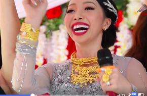 Clip: Cô dâu ở Hậu Giang mang trên người hơn 1kg vàng,