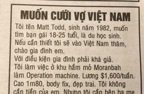 Đăng tin 'muốn cưới vợ Việt Nam', anh chàng ngoại quốc gây xôn xao cư dân mạng