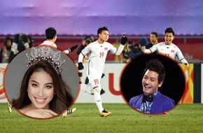 MC Phan Anh, Hoa hậu Phạm Hương và hàng loạt sao Việt lặng người vì quá tự hào với chiến thắng của U23 Việt Nam