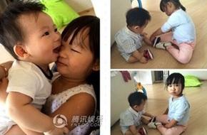 Vợ chồng Trần Hạo Dân khoe ảnh hai nhóc tì đáng yêu