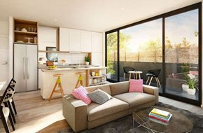 Mẫu phòng khách thiết kế mở tuyệt đẹp cho căn hộ chung cư nhỏ