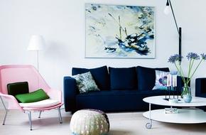 Nét sang trọng khó cưỡng với ghế sofa xanh