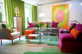 Nhấn nhá màu sắc cho phòng khách thêm yêu