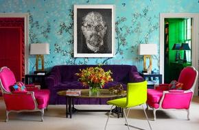 Nhấn nhá phòng khách với màu neon bắt mắt