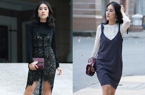 Đừng vội cất những chiếc váy hai dây, bạn hoàn toàn có thể sử dụng chúng trong mùa lạnh này đấy