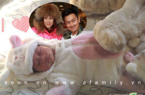 Ngắm ảnh con gái Trần Hạo Dân xinh như thỏ ngọc