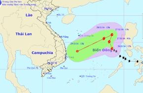 Bão số 9 sẽ gây mưa rất to từ Đà Nẵng đến Khánh Hòa