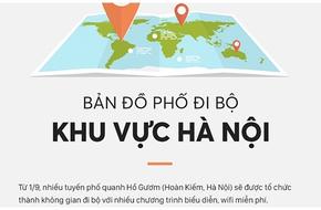 Infographic: 16 tuyến phố đi bộ quanh Hồ Gươm và những điểm gửi xe tiện lợi cho du khách