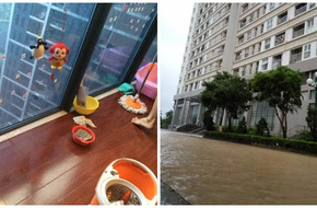 Hà Nội: Dân chung cư cũng khốn khổ với cảnh nhà... ngập nước vì mưa bão