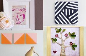 Giúp nhà đẹp xinh với 4 cách làm tranh đơn giản đẹp tinh tế
