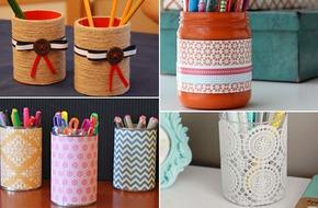 Ống cắm bút tái chế đẹp đến bất ngờ với 4 cách đơn giản