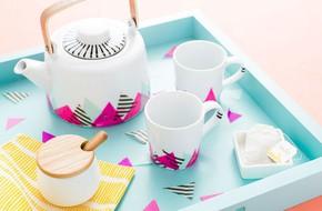 Trang trí bộ ấm trà thật xinh chuẩn bị đón Tết