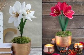 2 cách tự chế chậu hoa loa kèn giấy đẹp giống như thật