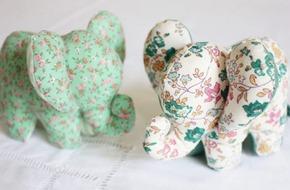 Mẹ khéo tay làm voi nhồi bông nhỏ xinh tặng bé yêu