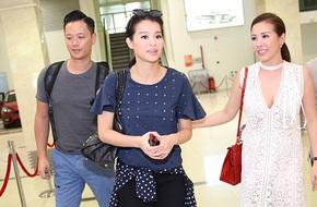 Hồ Hạnh Nhi diện áo phông thủng cá tính rời khỏi Việt Nam