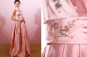 Váy cưới của Lâm Tâm Như được làm tinh xảo như thế này đây