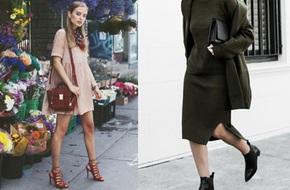 """Chọn giày/sandals hợp với từng kiểu váy """"quen mặt"""" của mùa thu"""
