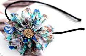Làm hoa vải trang trí bờm tóc nhanh và đẹp