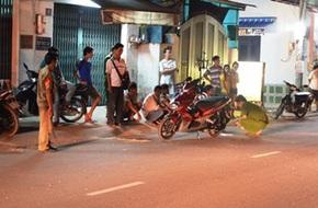 Bị cướp đạp đổ xe, 1 phụ nữ chấn thương nặng