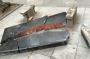 Đã tìm ra thủ phạm làm vỡ ghế đá cổ thời Lê cạnh hồ Gươm