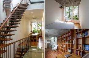 Ngôi nhà ống dài, thiếu sáng trong phố cổ Hà Nội và màn cải tạo đem lại ánh sáng tự nhiên cực ngoạn mục