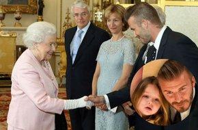 Beckham tiết lộ câu hỏi ngộ nghĩnh của Harper khi bố được diện kiến Nữ hoàng Anh