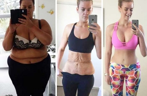Trong 2 năm cô gái 25 tuổi này giảm gần 100kg hoàn hảo đến nỗi không ai tin