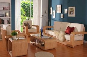 Sofa gỗ - xu hướng nội thất phòng khách mới của năm 2016
