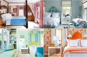 Đón xuân với những phòng ngủ đầy màu sắc