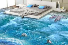 Mang thiên nhiên vào không gian sống nhờ sàn nhà 3D ấn tượng