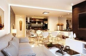 Bố trí nội thất căn hộ 110m² có ba phòng ngủ, hợp với người mệnh Kim