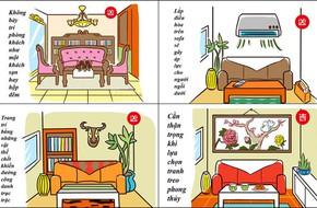 7 cấm kỵ ở phòng khách theo phong thủy nhất định bạn phải biết