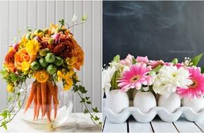 Trang trí bàn ăn đẹp tuyệt với những lọ hoa đầy quyến rũ