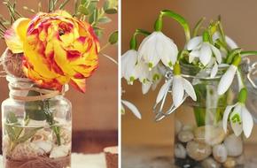 21 ý tưởng trang trí nhà với hoa