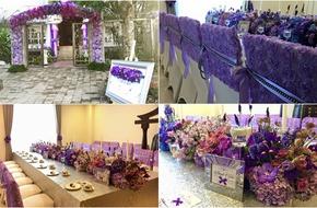 """Cô dâu Sài Gòn sử dụng cả """"vườn hoa tím"""" tuyệt đẹp để trang trí nhà ngày cưới"""