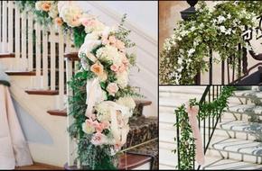 Gợi ý những cách trang trí cầu thang đẹp lung linh trong ngày cưới
