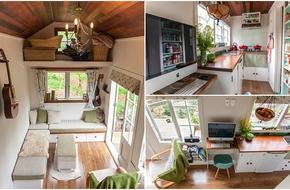 Ngôi nhà 17m² thoáng đãng đến bất ngờ do chính tay người chồng làm tặng vợ