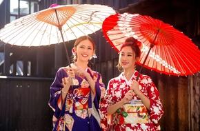 Hình ảnh đẹp ngỡ ngàng của Hoa hậu Mỹ Linh, Á hậu Thanh Tú ở Nhật Bản